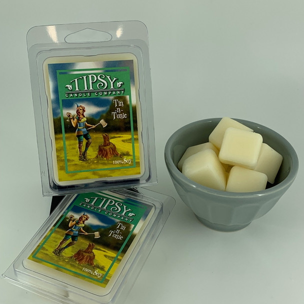 Tin-nTonic Soy Wax Melts made by Tipsy Candle Company.