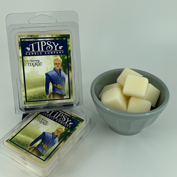 Charming Cognac Soy Wax Melts made by Tipsy Candle Company.