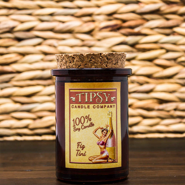 Fig Tini Soy Tumbler candle made by Tipsy Candle company