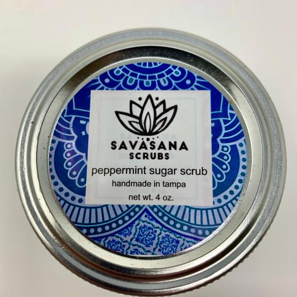 Peppermint  Sugar Scrub made by Savasana Scrubs