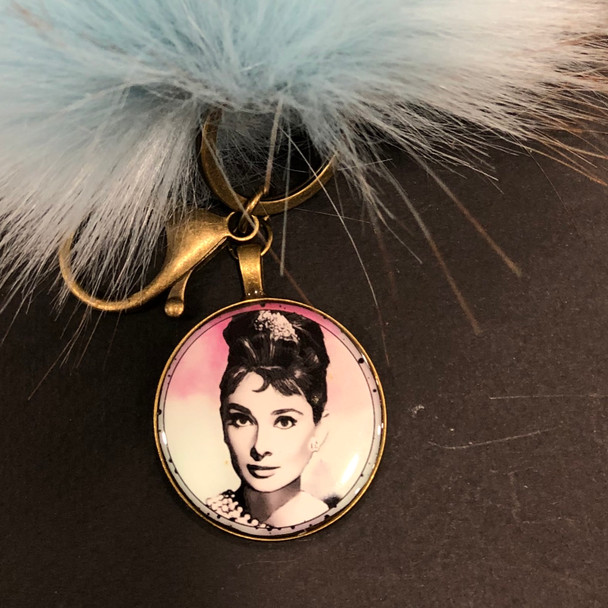Audrey l Pom Pom Key Chain