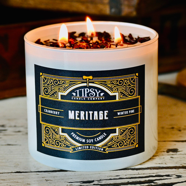 Meritage Soy Candle made by Tipsy Candle Company.