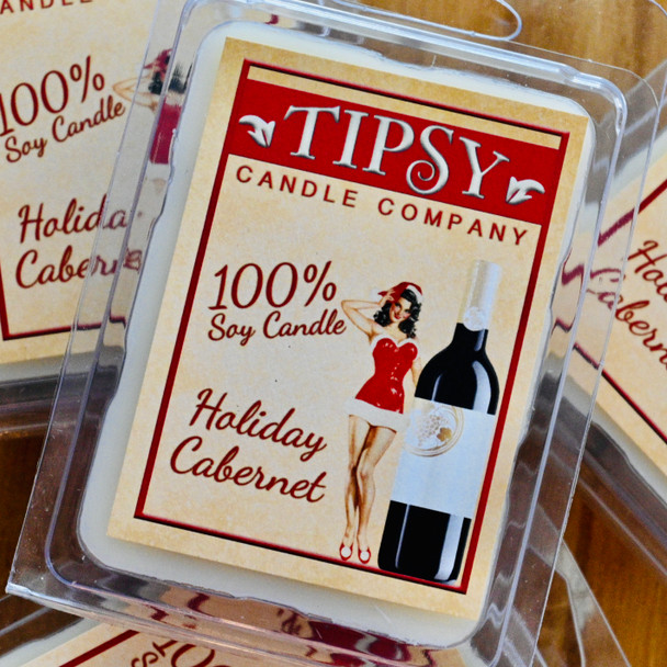 Holiday Cabernet Soy Wax Melts made by Tipsy Candle Company