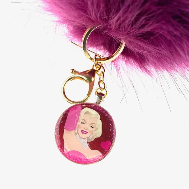 Marilyn Pom Pom Key Chain