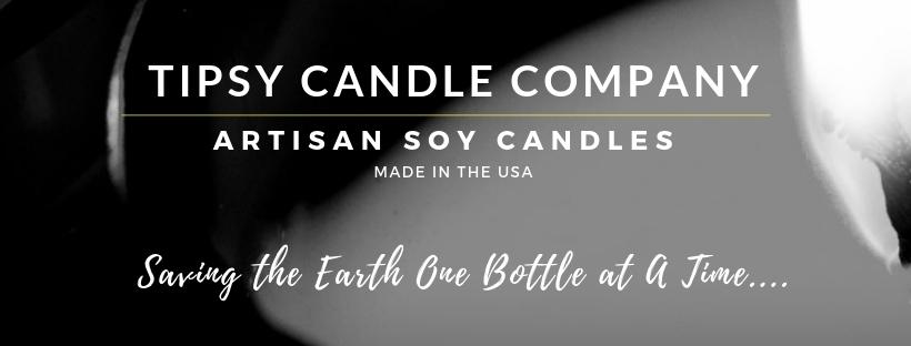 Soy Candles in Repurposed Wine Bottles
