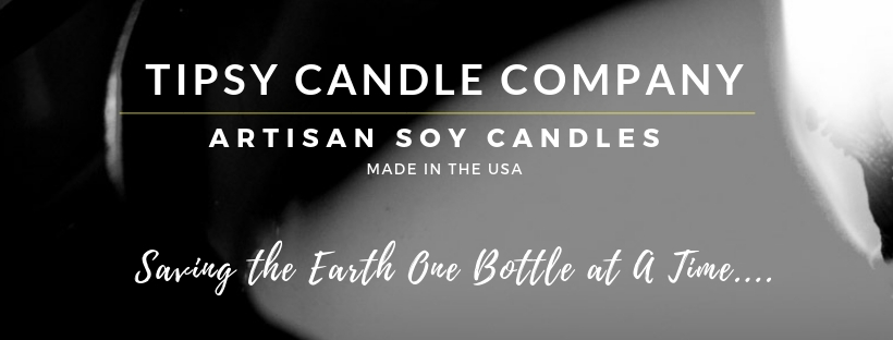 Soy Candles in Repurposed Wine Bottles