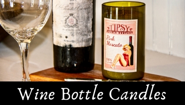 Banner 2 Wine Bottle Candles