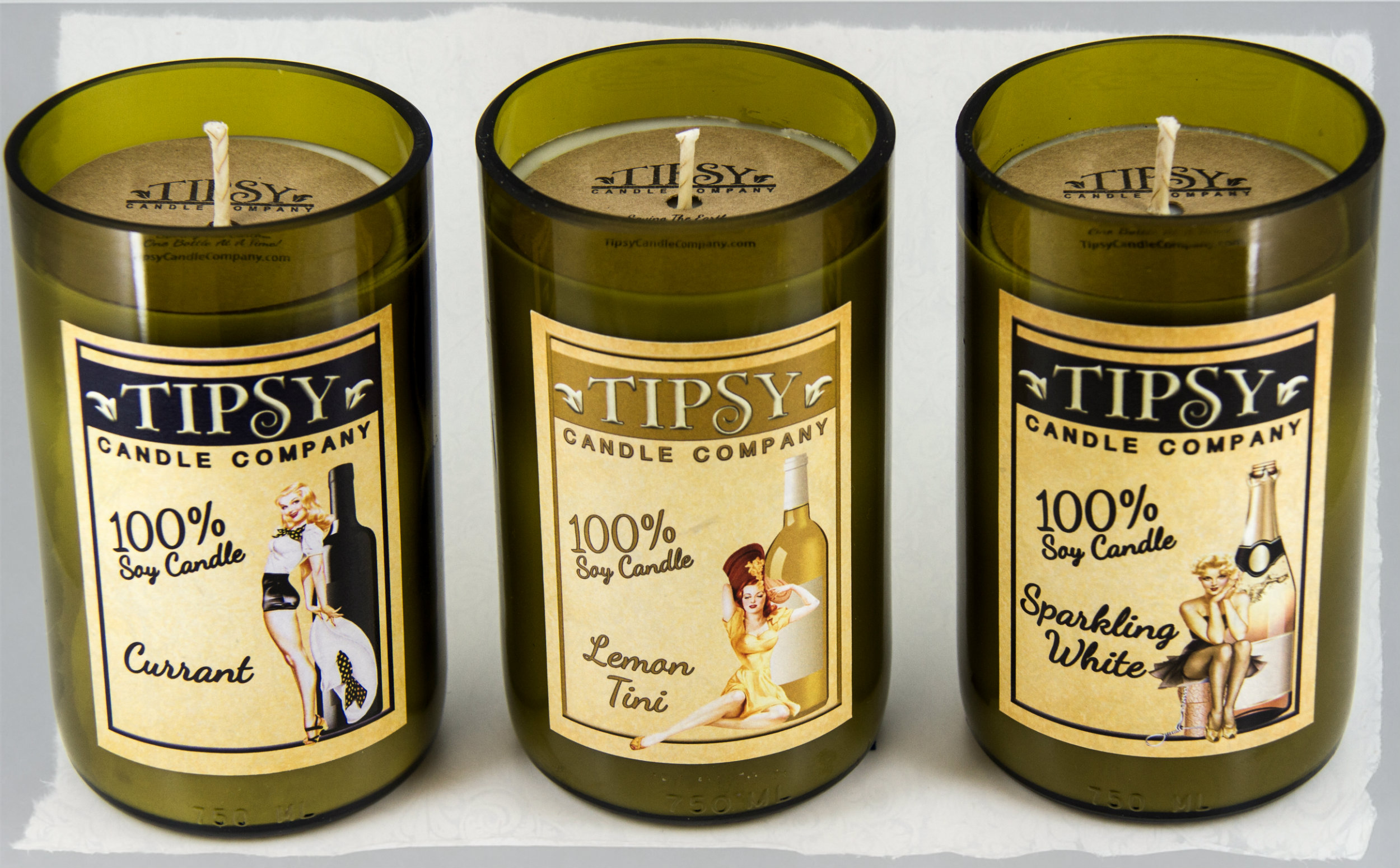 Holiday Candles by Tipsy Candle Company