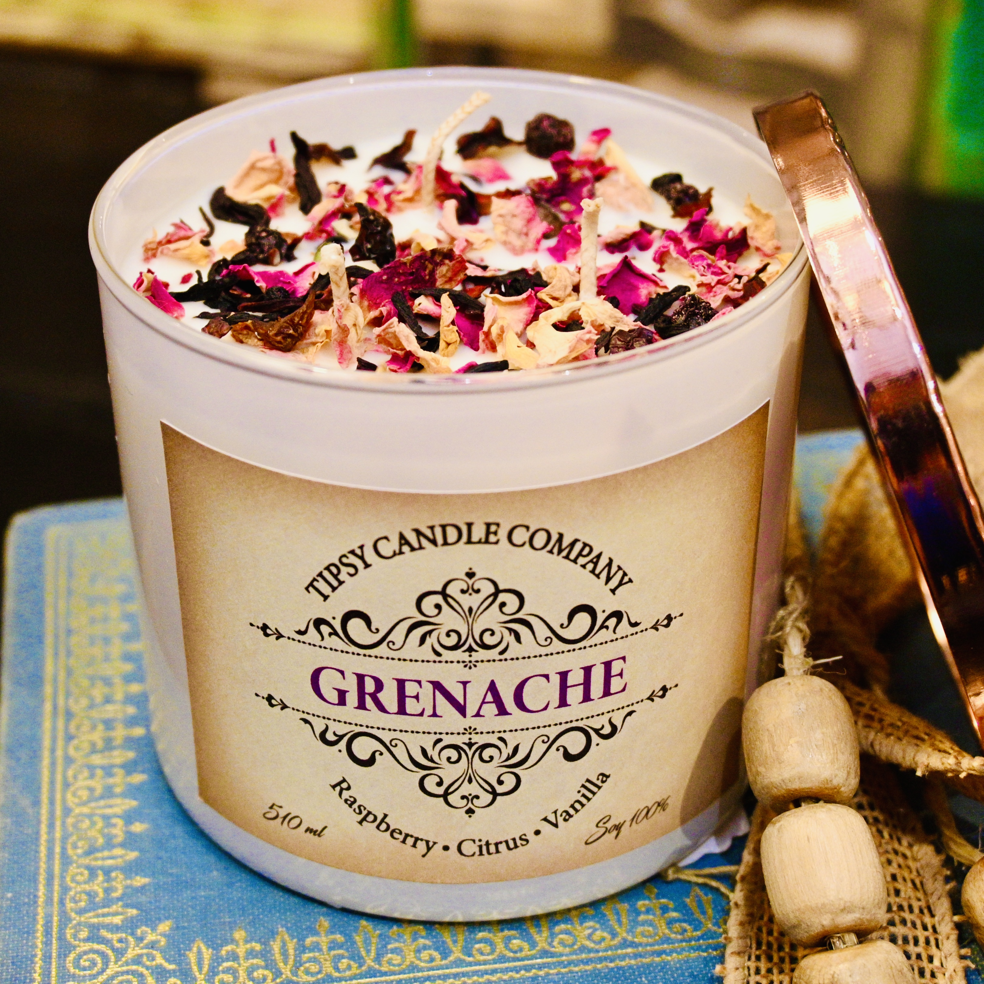 Grenache 3 wick Soy Candle made by Tipsy Candle Company
