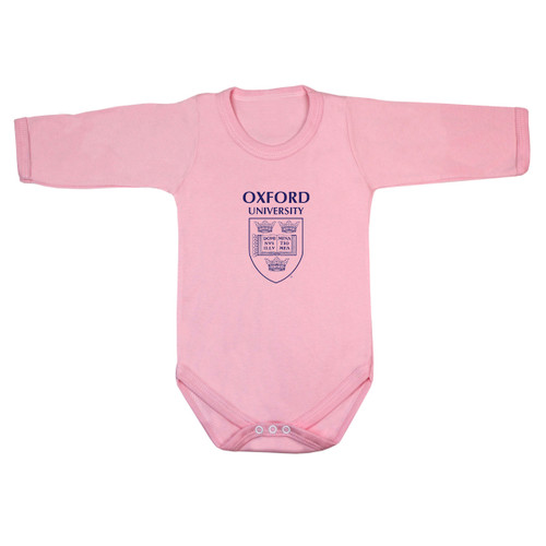 Official Oxford University Pocket Shield Long Sleeve Baby Bodysuit