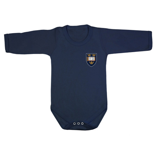 Official Oxford University Crest Logo Long Sleeve Baby Bodysuit