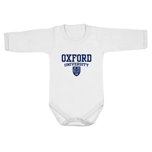 Official Oxford University Crest Long Sleeve Baby Bodysuit