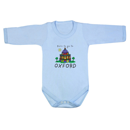 Born to go to Oxford Long Sleeve Baby Bodysuit