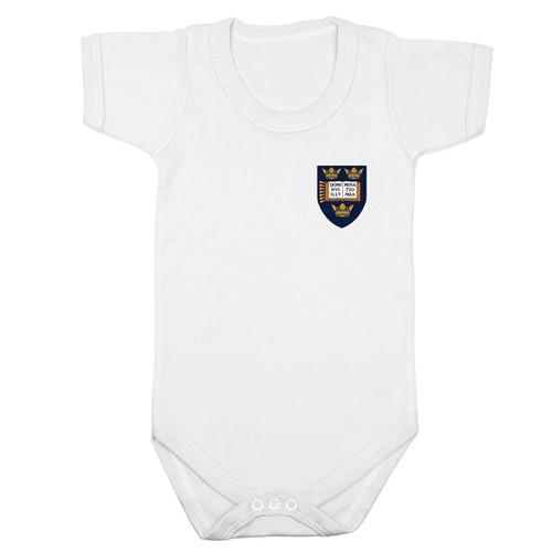 Official Oxford University Crest Logo Baby S/S Bodysuit