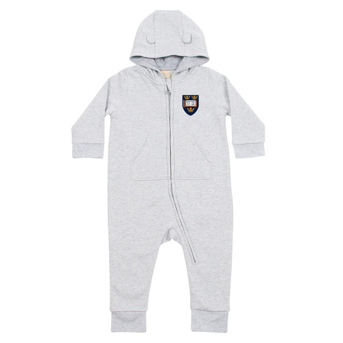 Official Oxford University Crest Logo Long Sleeve Baby Bodysuit with Hood