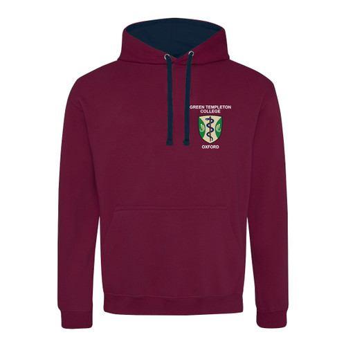 Green Templeton Embroidered Hoodie - Burgundy/Navy