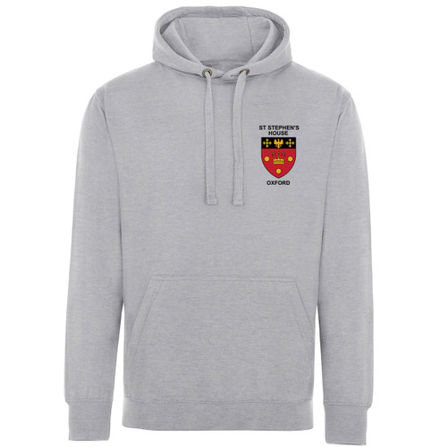 St Stephen's House College Embroidered Hoodie - Heather Grey