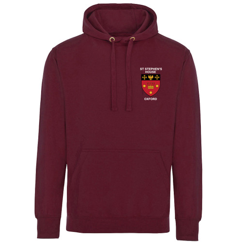 St Stephen's House College Embroidered Hoodie - Maroon