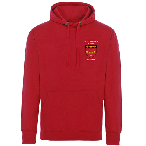 St Stephen's House College Embroidered Hoodie - Red