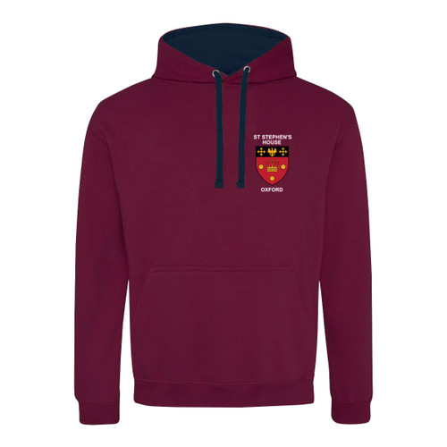 St Stephen's House College Embroidered Hoodie - Burgundy/Navy