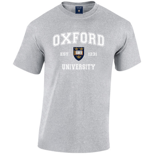 Official Oxford University 'Harvard Style' T-Shirt - Sports Grey