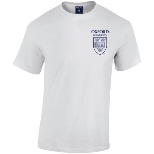 Official Oxford University Pocket Shield T-Shirt - White