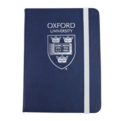 Oxford University Shield Blue A5 PU Notebook