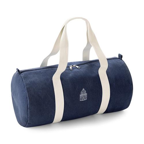 Oxford Radcliffe Camera Dark Denim Barrel Bag