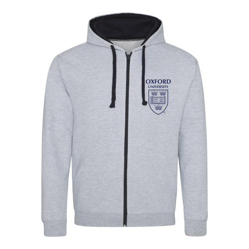 Official Oxford University Crest Zip Hoodie