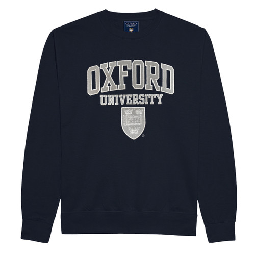 Official Oxford University Embroidered Applique Sweatshirt - Navy