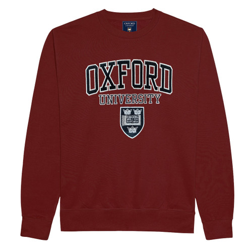 Official Oxford University Embroidered Applique Sweatshirt - Maroon