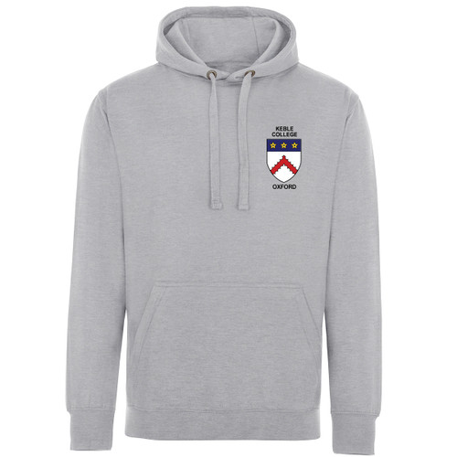 Keble College Embroidered Hoodie - Sports Grey