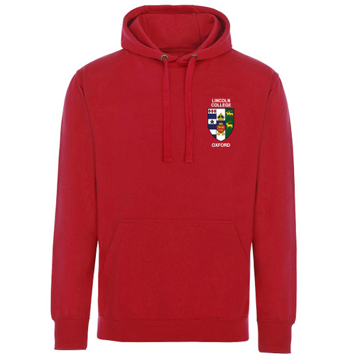 Licoln College Embroidered Hoodie - Red