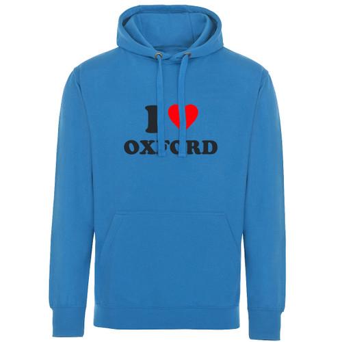 I Love Oxford Adult Hoodie