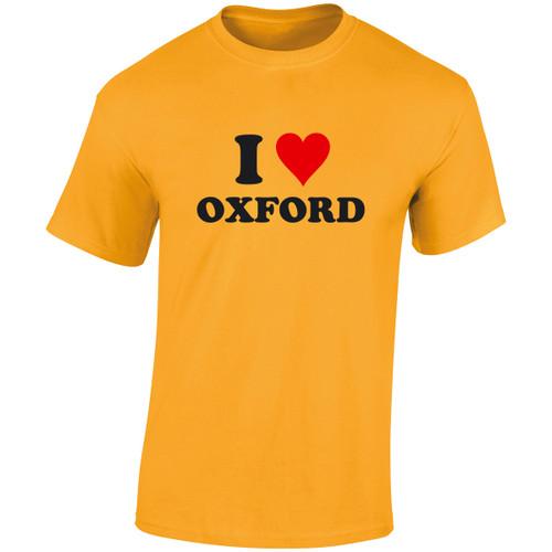 I Love Oxford Adult T-Shirt