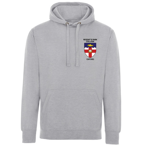 Regent's Park College Embroidered Hoodie - Sports Grey