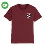 Blackfriars College Embroidered Organic T-Shirt - Burgundy