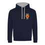 All Souls College Embroidered Hoodie - Dark Navy/Grey