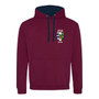 Licoln College Embroidered Hoodie - Burgundy/Navy