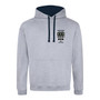 Magdalen College Embroidered Hoodie - Heather Grey/Navy