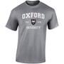 Official Oxford University 'Harvard Style' T-Shirt - Dark Heather