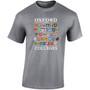 Oxford 'College Shields' T-Shirt  - Dark Heather