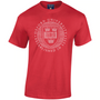 Official Oxford University Distressed Crest T-Shirt - Red