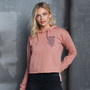 Official Oxford University Pocket Shield Cropped Hoodie