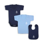 Radcliffe Camera Babywear Bundle - Navy S/S Bodysuit, Blue T-Shirt, Navy Bib