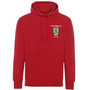Green Templeton College Embroidered Hoodie - Red
