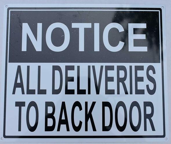All Deliveries to Back Door