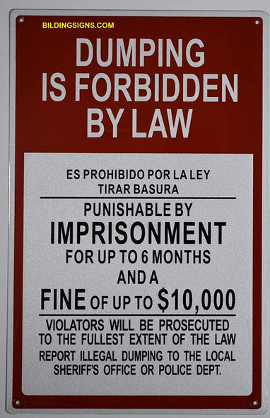 Dumping is Forbidden by Law    Duty , Rust Free,