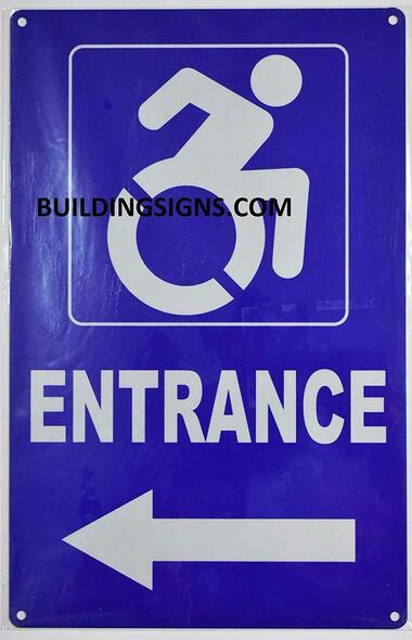 Wheelchair Accessible Entrance Left Arrow