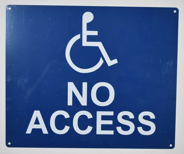 no Accessibility  Signage